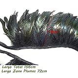 SwirlColor Luxuriöse schwarze Feder-capelet mit hohem Kragen -
