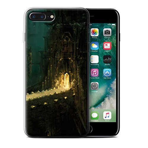 Offiziell Chris Cold Hülle / Gel TPU Case für Apple iPhone 7 Plus / Tränen der Eva Muster / Gefallene Erde Kollektion Dragonfel Tempel