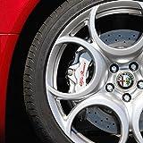 ALFA ROMEO HI -4 x Bremsenaufkleber Bremsen Aufkleber Bremssattel HitzebeständigDECALS STICKERS CAST VINYL BRERA