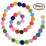 37yimu 200Stück 2,5cm Zeitgemäß für Basteln und Hobby Supplies sortiert Farben