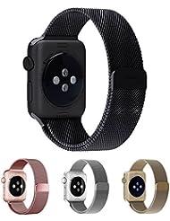 Watch Armband,Drei Falte EH HE 42mm Watch Milanaise Strap Armband Replacement Wrist Band für Watch 42mm Alle Modelle Keine Schnalle Benötigt