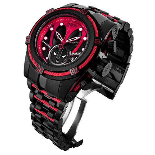 Invicta 27151 Reserve Men's 52mm Marvel Deadpool Bolt Zeus Limited Ed Swiss Ronda Z60 Chronograph Watch
