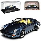 Porsche 911 964 Cabrio Speedster Blau Grau 1988-1994 1/43 Atlas Modell Auto