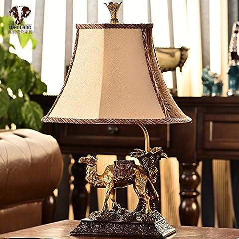 Europeo lampada stile retrò lusso testa camera