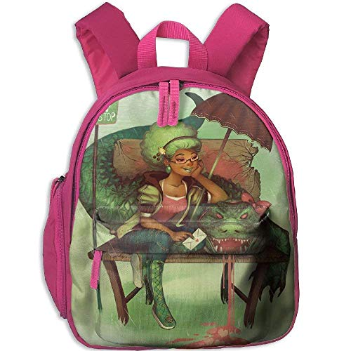 Kindergarten Boys Girls Backpack Art Girl African Woman Black Crocodile Bus School Bag