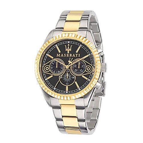 Maserati orologio da uomo analogico al quarzo con cinturino in acciaio inox - r8853100008