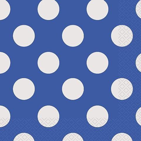 Luncheon Napkins 16/Pkg-Royal Blue Decorative Dots
