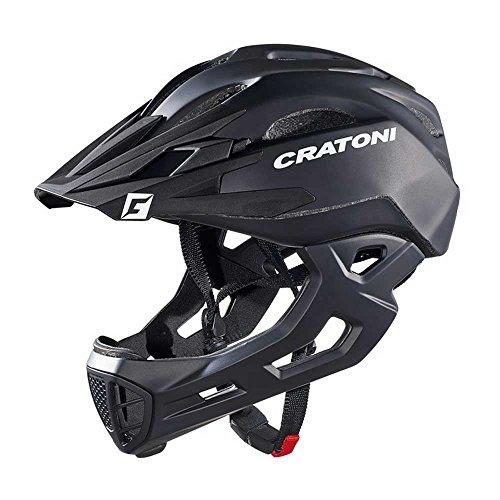Cratoni Fahrradhelm C-Maniac Freeride S/M 52-56cm schwarz matt ca. 320g Fahrrad