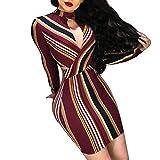 Younthone ❤❤❤ Bekleidung ღღღ Perspektive sexy Kleid Nail Beads Gitter heißes Bohren Kurzarm Sexy Minikleid Club Dress Perspektive Perlen Frauen Kleid Hohe TailleSommerkleid (M,Wein)