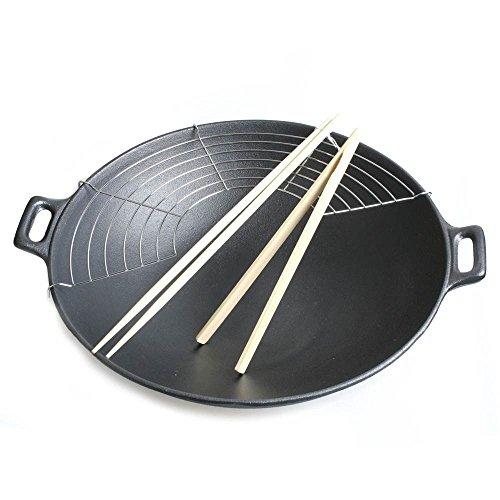 Big-BBQ - Sartén wok (hierro fundido)
