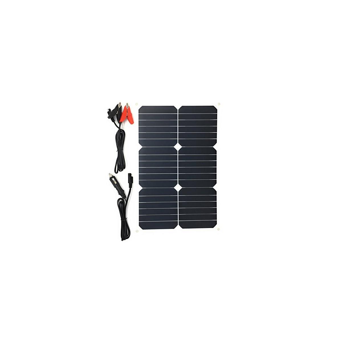 51XK7wHrV4L. SS1200  - Giaride Cargador Solar Sunpower Panel Módulo Solar de 12V Baterías Cargador de Coche Portátil Fotovoltaico para Coches, Caravana, Moto, Bote, Barco