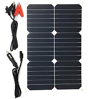 Giaride Cargador Solar Sunpower Panel Módulo Solar de 12V Baterías Cargador de Coche Portátil Fotovoltaico para Coches, Caravana, Moto, Bote, Barco