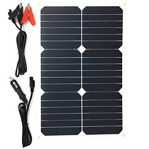Preisvergleich Produktbild GIARIDE Solar Autobatterie Ladegerät 18V 18W Tragbar Solarpanel Maintainer Solarladegerät für Auto Boot RV Traktor Motorrad Automobil 12V Batterien