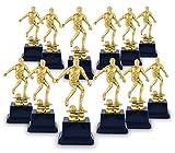 Juvale - Trofeo de fútbol masculino dorado – Reconocimiento de premios de plástico para jugadores de fútbol, entrenadores – 12 piezas