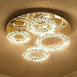 Saint Mossi Modern K9 Crystal Goccia di pioggia Lampadario Illuminazione da incasso LED Lampada da soffitto Apparecchio a sospensione per sala da pranzo Bagno Camera da letto Salotto
