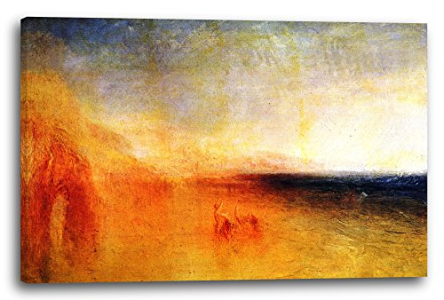 Printed Paintings Leinwand (120x80cm): William Turner - Sonnenuntergang auf Dem Meer