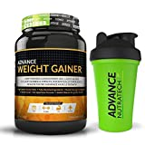 Advance Nutratech Advance Weight Gainer Powder ( 2 Lbs, Chocolate ,Free Shaker )