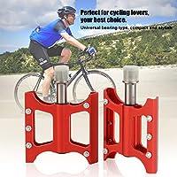 Qewmsg VRP-03 Bicicleta Pedales de Bicicleta Plegable de Titanio Teniendo Bicicleta Ciclismo Pedales de