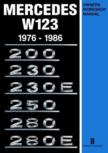 T U00e9l U00e9charger Mercedes W123 Owners Workshop Manual 1976