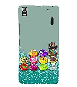 For Lenovo K3 Note :: Lenovo A7000 Turbo Cold Drink, Grey, Coldring Caps, Lovely Pattern, Printed Designer Back Case Cover By CHAPLOOS