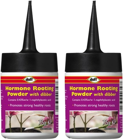 2-x-doff-hormone-rooting-powder-with-dibber-75g-help-new-roots-on-cuttings-and-promotes-strong-healt