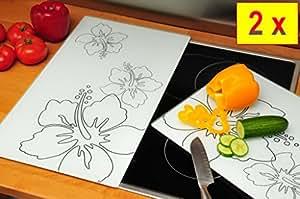 premium cache plaque 2 pi ces kit de protection pour cuisini re en verre pour plaques. Black Bedroom Furniture Sets. Home Design Ideas