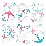 Wandtattoo Schwalben Set Wandsticker Vogel Dekoration bunter Vogelschwarm