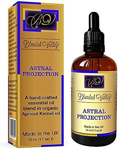 Aromatherapie-Öl für Astralprojektion - Ätherische Öle aus Lavendel, Zitrone, Weihrauch, Zimt, Palisander im Aprikosenkernöl. Für Aroma-Diffusor oder Duftbrenner. Für Astralreisen-Meditation.
