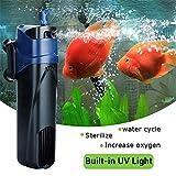 Genenic Sedile 5W sterilizzatore UV sommergibile Ossigeno Pompa Filtro Acqua di Acquario