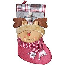 eSky24 nikolausstrumpf, Papá Noel Botas calcetín de Navidad Navidad Medias Calcetines Distressed para Chimenea o
