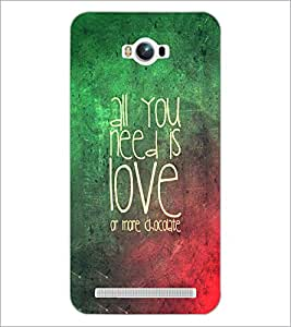 PrintDhaba Quote D-3472 Back Case Cover for ASUS ZENFONE MAX ZC550KL (2016) (Multi-Coloured)