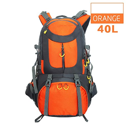 Un nuovo giorno uomini e donne borsa all'aperto alpinismo escursionismo campeggio pacchetto capacità zaino grande capacità 40L 52 * 30 * 18 cm , purple Orange
