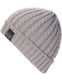 Ularma Unisex Holgados ganchillo cálido invierno lana tejer gorro de esquí
