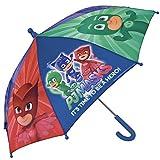 Pj Masks – Ombrello Super Pigiamini da bambino e bambina Perletti – Ombrello pioggia antivento manuale – Diametro 66 cm immagine