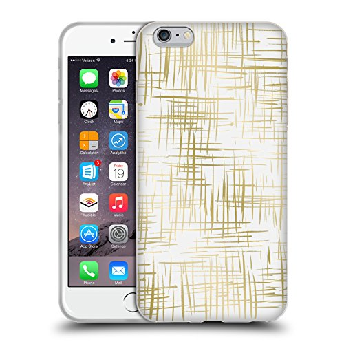 Offizielle Caitlin Workman Punktiert Muster Soft Gel Hülle für Apple iPhone 6 / 6s Kreus Gold
