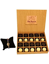 DEARCO CHOCOLATIER CHOCOLATE GIFT BOX, RAKHI CHOCOLATE For BROTHER, Luxury Rakhi Gift, PREMIUM RAKHI GIFT CHOCOLATES... - B073ZM3583