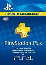 PlayStation Plus 3 Month Membership  [PSN Download Code - UK account]