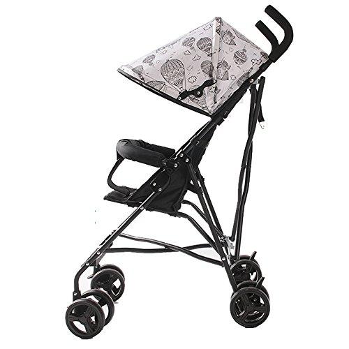 Child vehicle ZDDAB Kindertrolley, Faltbarer Babyschirmwagen, tragbarer Leichter Wagen (Farbe : Black, größe : Deluxe Edition) -