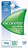 Nicorette 2 mg Icy White Gum - Pack of 105 Gums