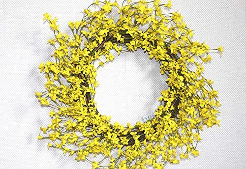 ZHIHUIflower Künstliche Blumengirlande gelbe Frühlingssimulationsblumengirlandenrattanausgangsdekorationsfeiertags-Fälschungsblume