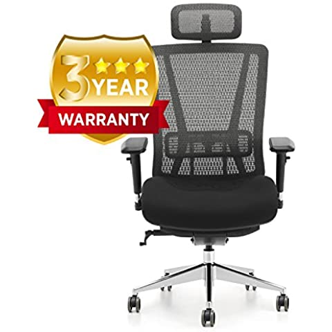 Oseasons–Ufficio sedia girevole–completamente personalizzabile per le tue esigenze ergonomico Helping elimate cattiva postura e Dolore (Arms Girevole Sedia)