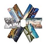 GEPRÜFTE RFID & NFC Kreditkarten-Schutzhülle (6 Stück) super dünn & robust für 100% Datenschutz - Motive (Stadt)
