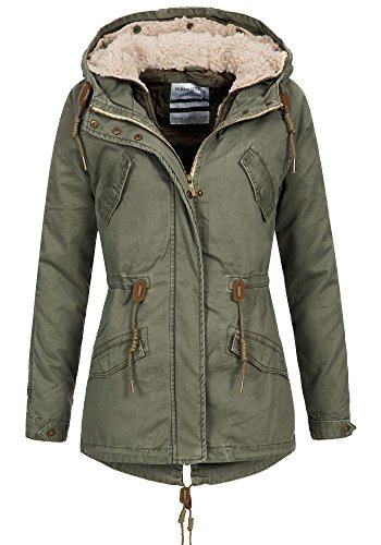 Urban Surface Damen Jacke Parka LUS-090 Kapuze stomach green M