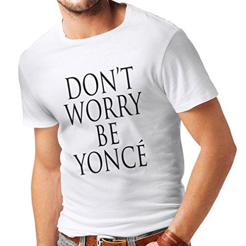 lepni.me Camisetas Hombre ¡No te Preocupes! Cómo ser Feliz, Grandes Citas bf06ebe6c17