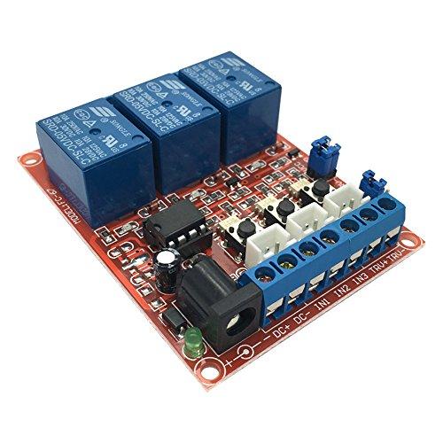 FengYun® 5V 3 Kanal Selbstsichernde Verriegelungsschalter Relaiskarte Hoher Low Level Trigger Optokoppler Isolationsmodul -