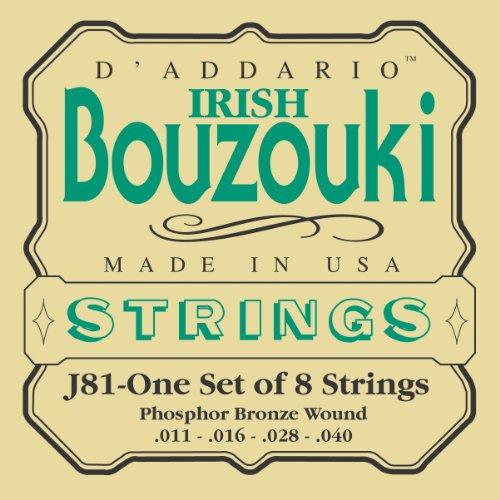 D\'Addario J81 Saitensatz für Ukulele, Dulcimer, Tenor Gitarre, Oud Bouzoiki-Irish