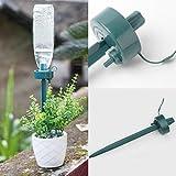 VENMO Automatische Selbstbewässerungs Blumen Anlage Gerät automatische Garten Sprinkler Wasser Kunststoff Pflanzen Bewässerung Rasensprenger für Garten Gemüse Automatische Bewässerung (Green)