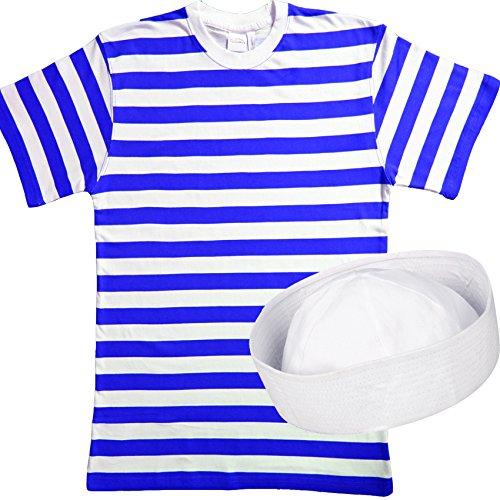 Set costume per travestimento da marinaio, da uomini, 2 pezzi