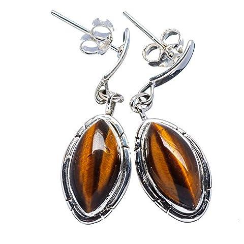 Ana Silver Co Tiger Eye 925 Sterling Silver Earrings 1 1/2
