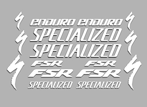 PEGATINAS FSR ENDURO F42 VINILO ADESIVI DECAL AUFKLEBER MTB STICKERS BIKE BLANCO